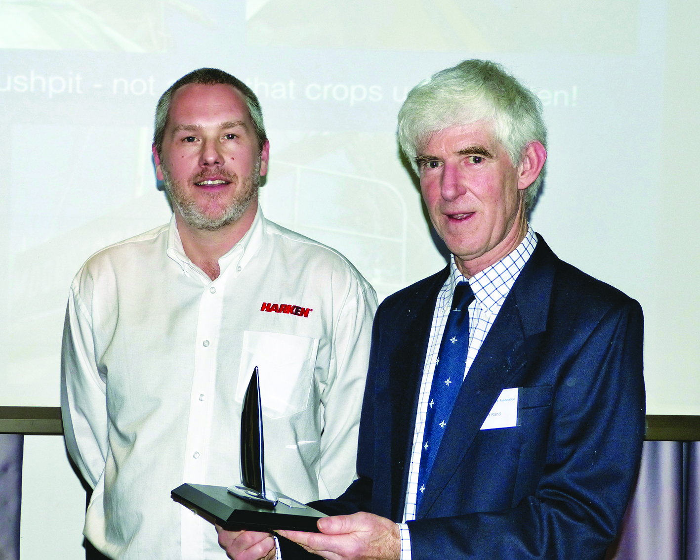 Alan Rand  was awarded the Harken Trophy for his technical article