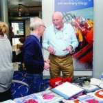 Visiting the exhibitors