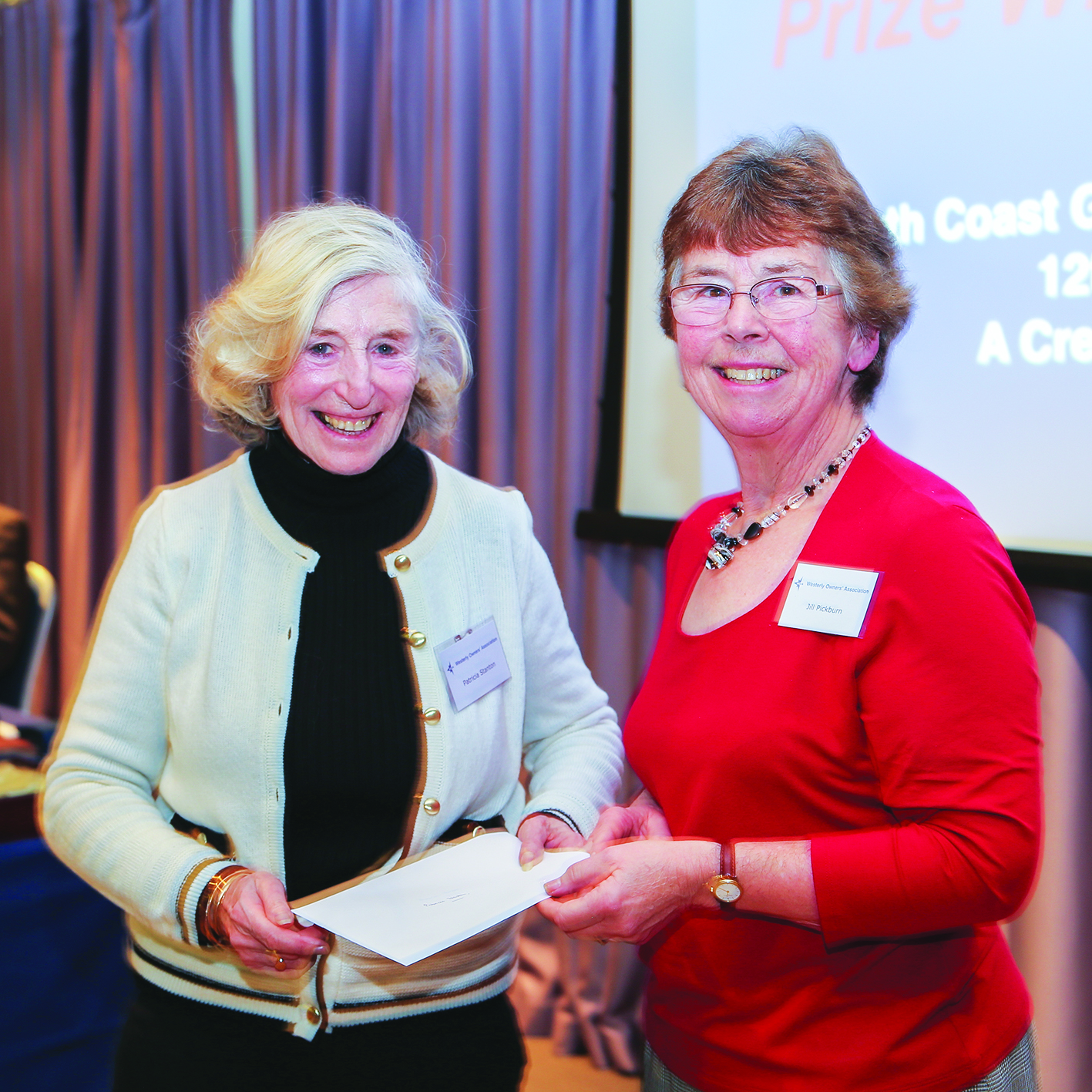 Patricia Stanton receives the Best Article Award