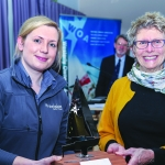 Barbara Pugh receives the Precision Prize Trophy from Kelly Stork of Precision Paints