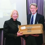 Aurora Allen receives a special award for Sapphire III