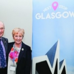 Commodore, Mary Buchanan and her husband present 'Next Stop Glasgow'