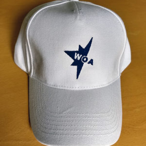 white WOA cap