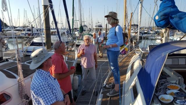 Drinks on the pontoon