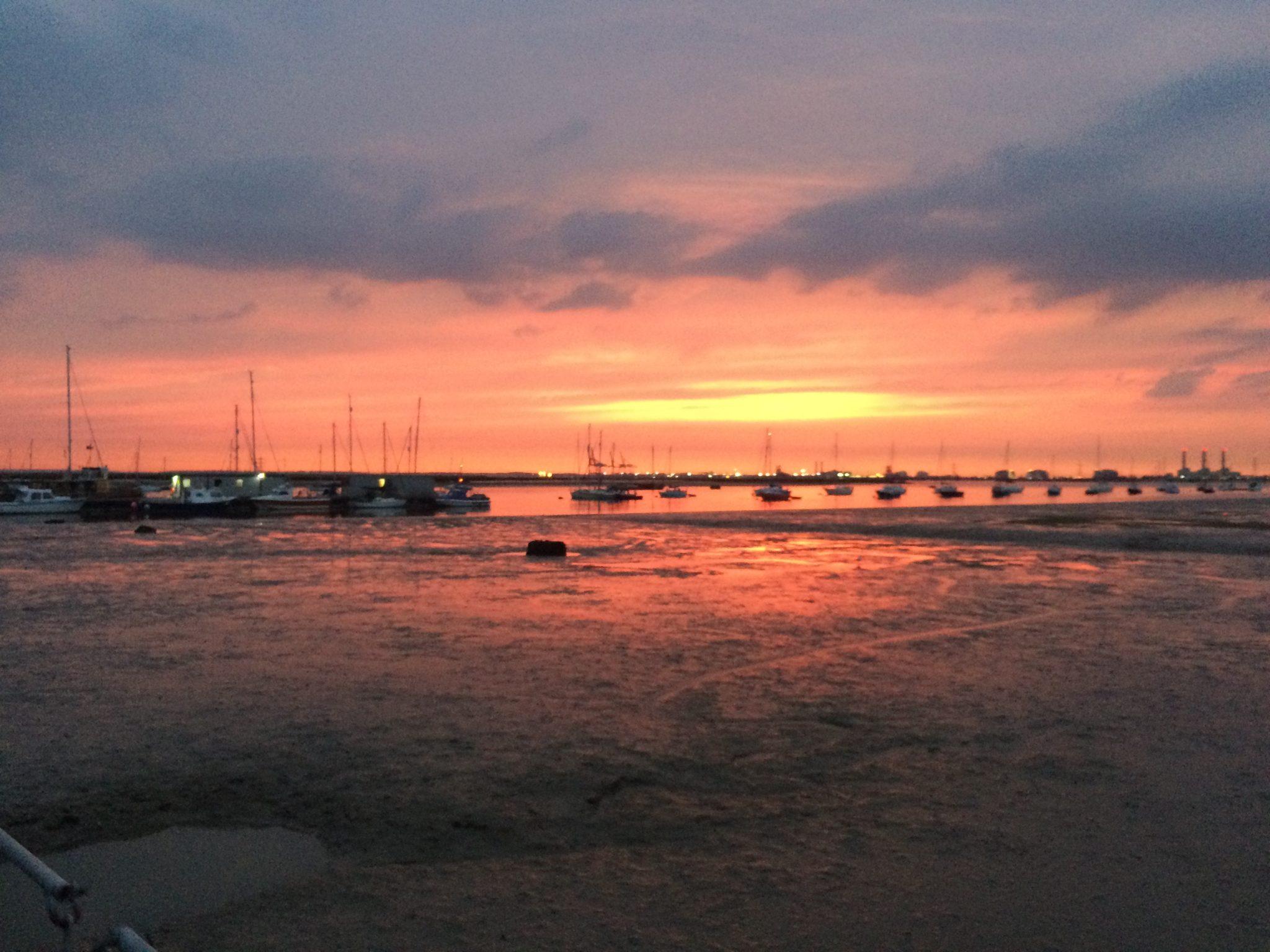 Sunset at Queenborough