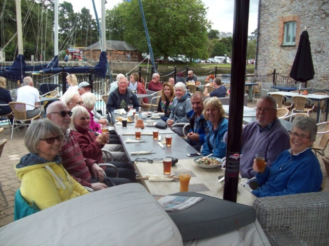 Pub lunch enjoyed by all