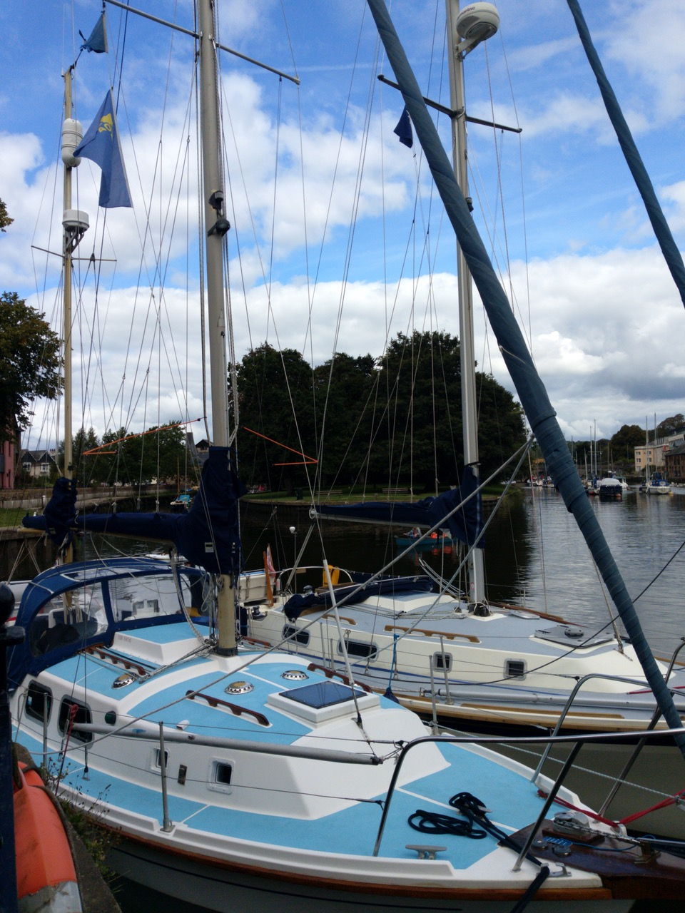 Moored at the pub